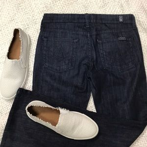7 For all mankind a pocket jeans dark wash